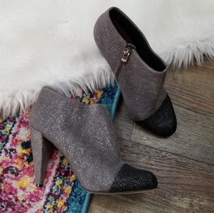 Vince Camuto Amoby 2 Gray Glitter Ankle Booties 9